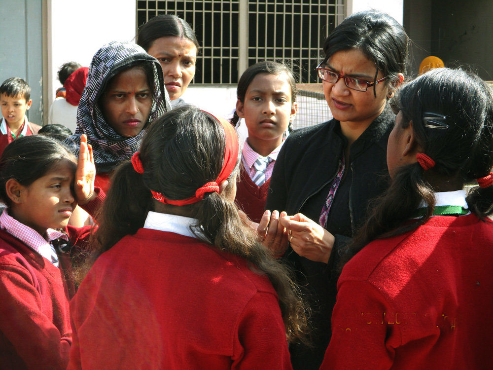 During Counselling Session with School Girls