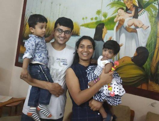 Kushbu with her beautiful adoptive family