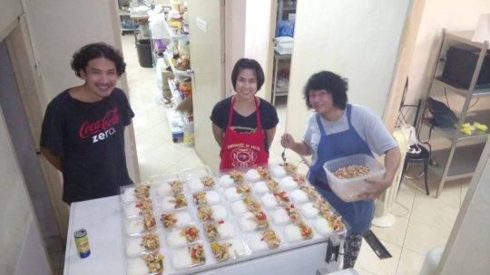 Tamar Center Staff prepares Food for Conference