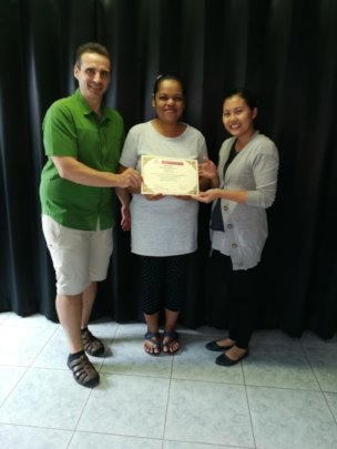 Nong with sewing certificate