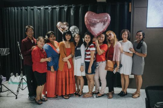 Graduation - the women with their teachers!