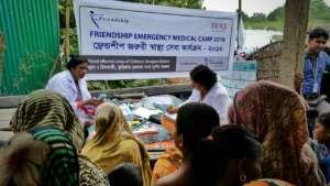 Friendship teams providing medical support