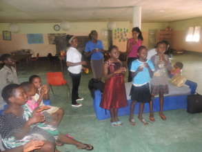 Project team visit to orphanage