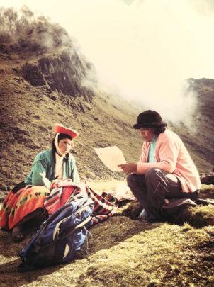 Escolastica, right, with docente Beatriz