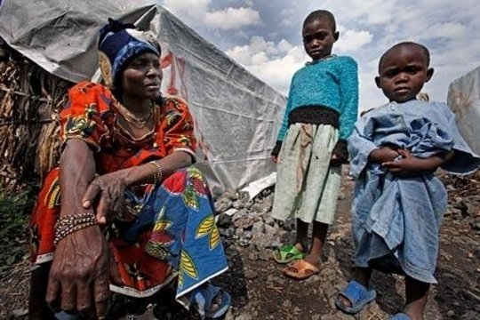 Emergency relief for women and children in Goma