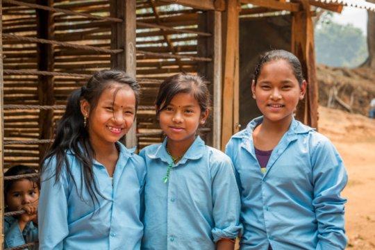 Anjali with school friends
