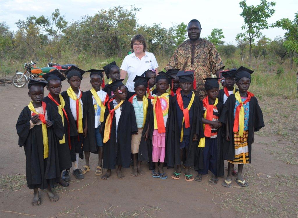 Alison with the graduates