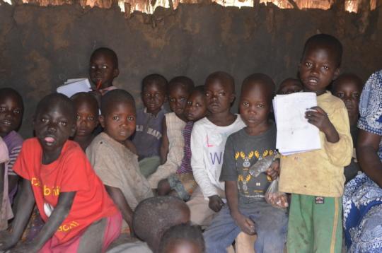 Children at school in Putuke, near Kitgum