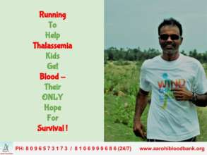 Marathon Runner Running in Support