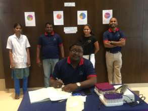 Somya With Team Aarohi  At Blood Donation Camp
