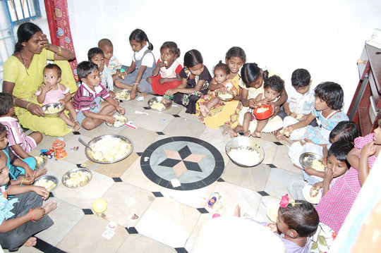 Provide Mid-day Meals for Poor Children in Creches