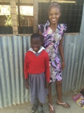 Teacher and student at Akili school