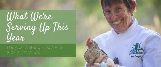 Chef Ann Foundation's 2017 Goals