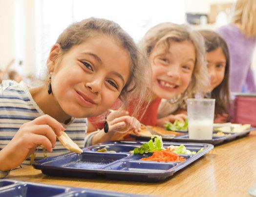 Three Girls Eating Lunch