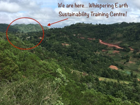 Location of farm in Danu village 1,500 meters