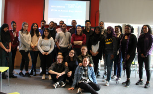 Students at the 'Think Maths' workshop