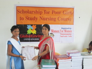 Distribution of books and uniforms