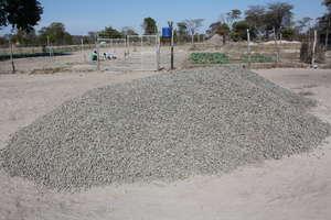 Gravel for the foundation