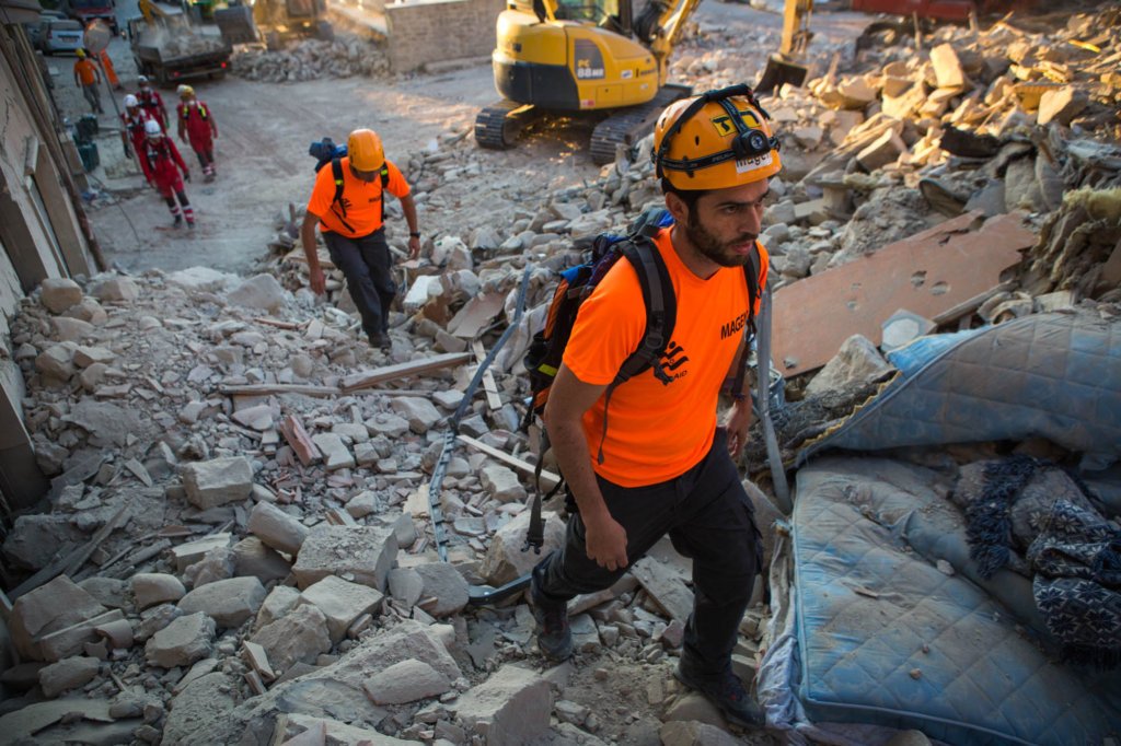 """Photo from IsraAID  - """"Search and Rescue team"""""""