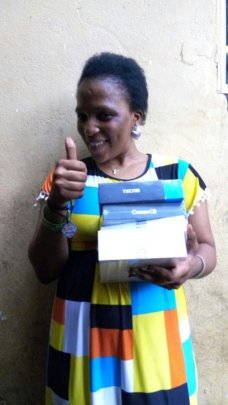 Agnes shows items she has purchased to sell