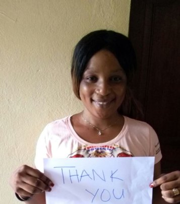 "Agnes says ""Thank you"""