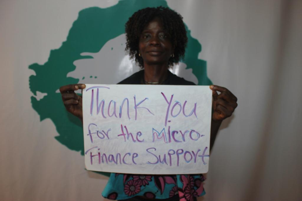 Isatu is thankful for the microfinance loan