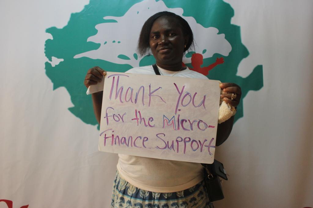 Mariatu is thankful for the Microfinance Loan