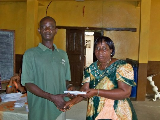 Peter Receiving Funds at End of Training