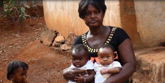 Hawa and her kids