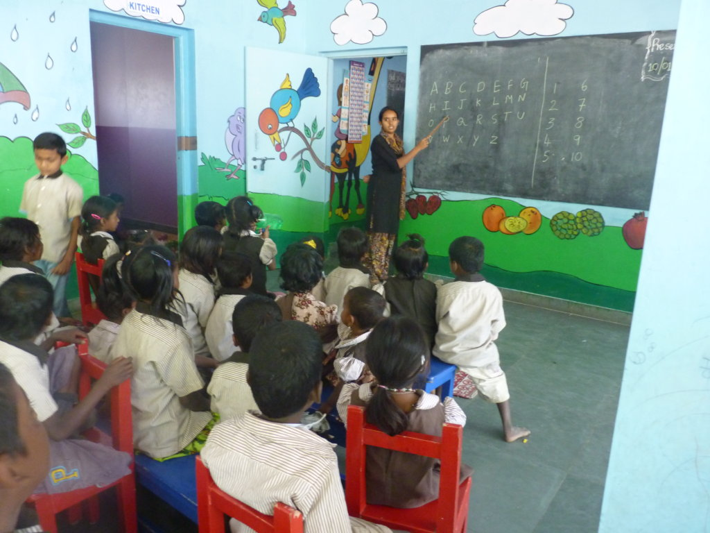 Mid-day meal and education at Ashrayadeep