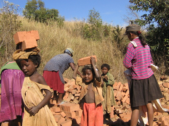 Bricks to built their new school