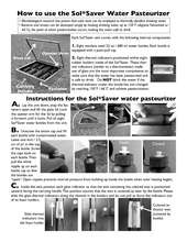 A manual on how to use the solar water pasteurizer (PDF)