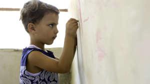 Siraj, 4, from alSira will soon be in school!