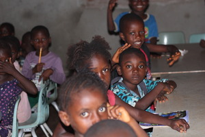 Children learning in Sierra Leone