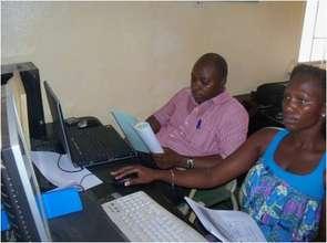 2 basic computer training trainees