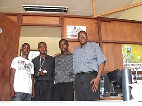 Sylvester visits YEDEM office in Freetown, Sierra Leone