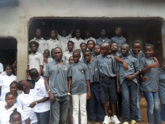 Group of Youths at Door of Hope