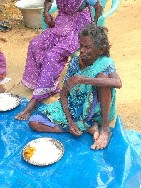 Feed 32 starving neglected elderly women