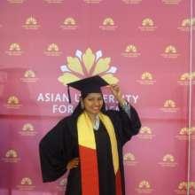 Saima at her graduation ceremony