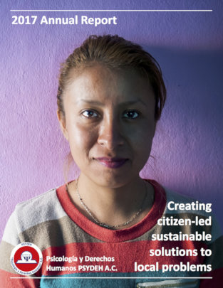Otomi leader, cover page, 2017 Annual Report