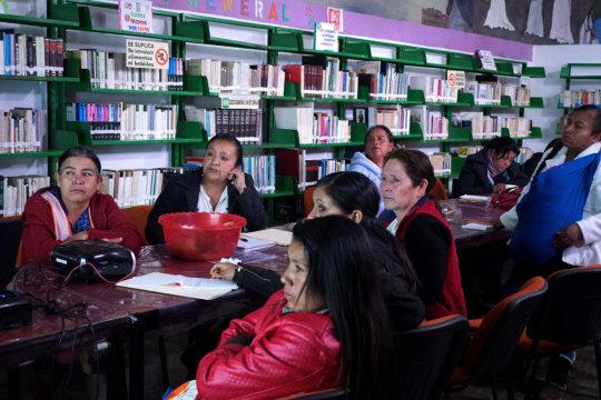 Regional leaders watching global campaign video