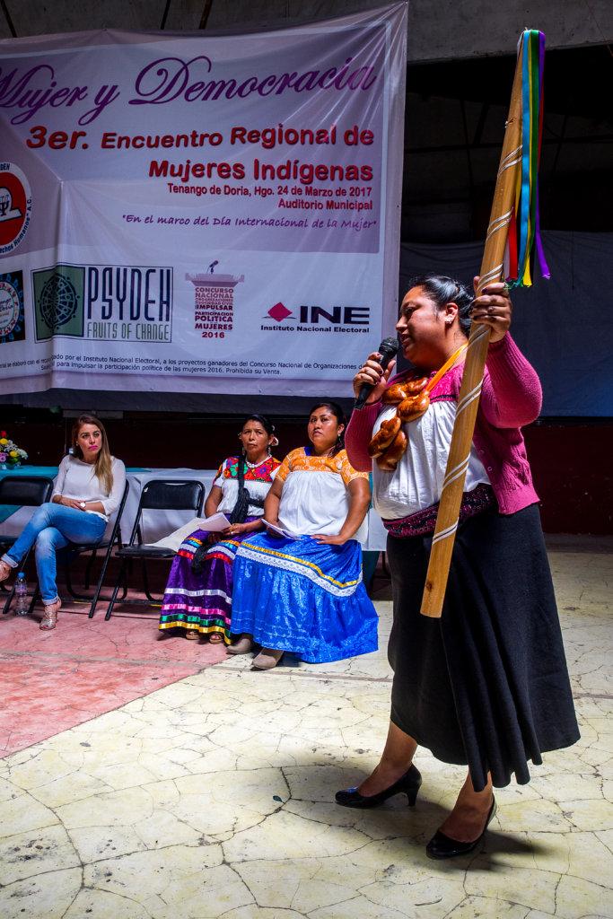 Marisela, regional Nahua leader