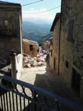 Effects of the earthquake in central Italy.
