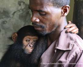 Jack with caregiver Jean Aime