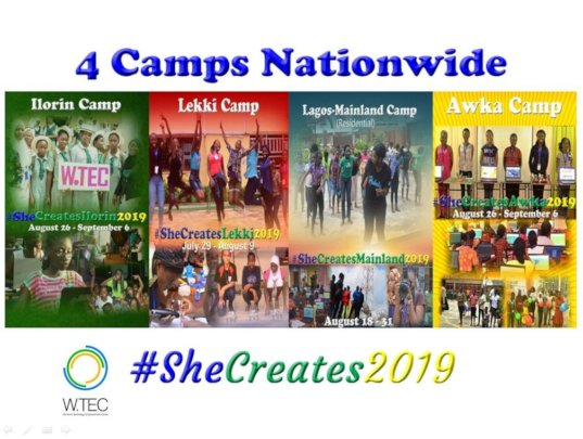 2019 W.TEC She Creates Camp Application Open