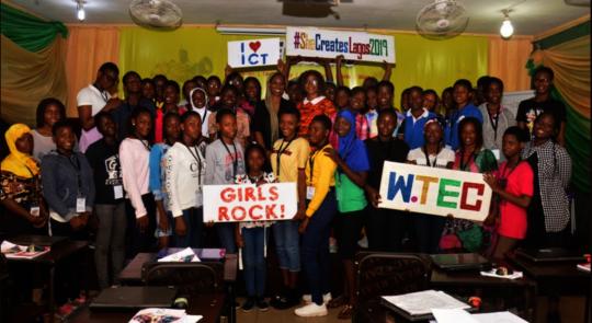 Girls & Speakers in She Creates Lagos Mainland