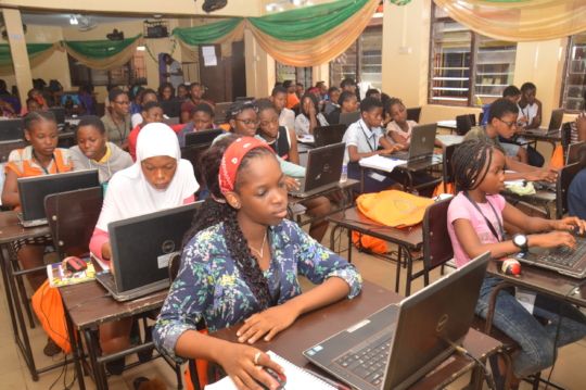 Girls at the She Creates Camp- Lagos Mainland