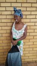 Mpho as she explained what the pads meant to her