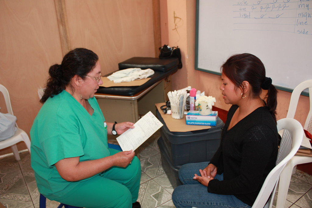 A WINGS cervical cancer nurse and patient