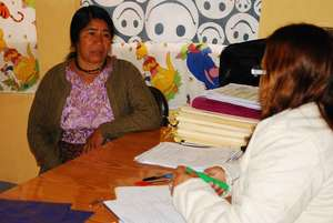 Counseling at a mobile clinic